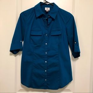 ⭐️MAKE AN OFFER!⭐️ Teal button down